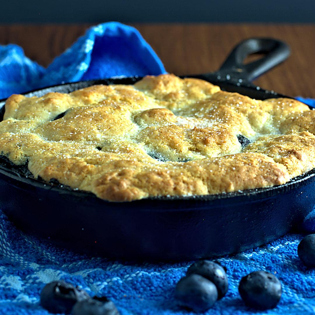 Blueberry Cobbler for Two