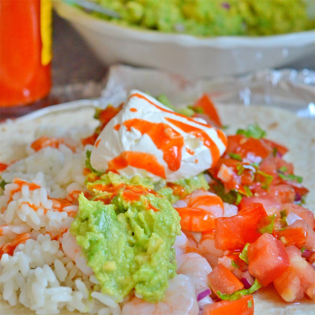 Quick & Easy Shrimp Burrito