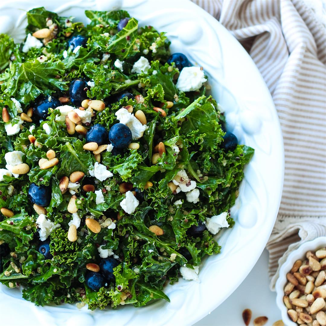 Kale & Blueberry Quinoa Salad