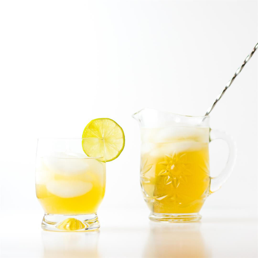 Gin and Ginger Cocktail