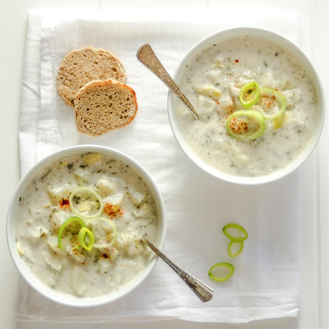 Cream of Potato and Artichoke Soup