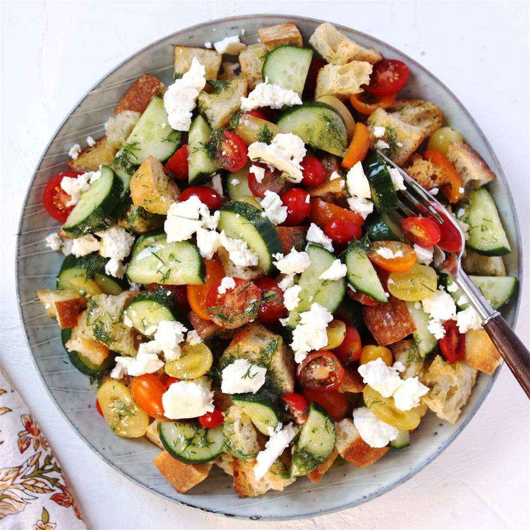 Summer Dill Panzanella Salad