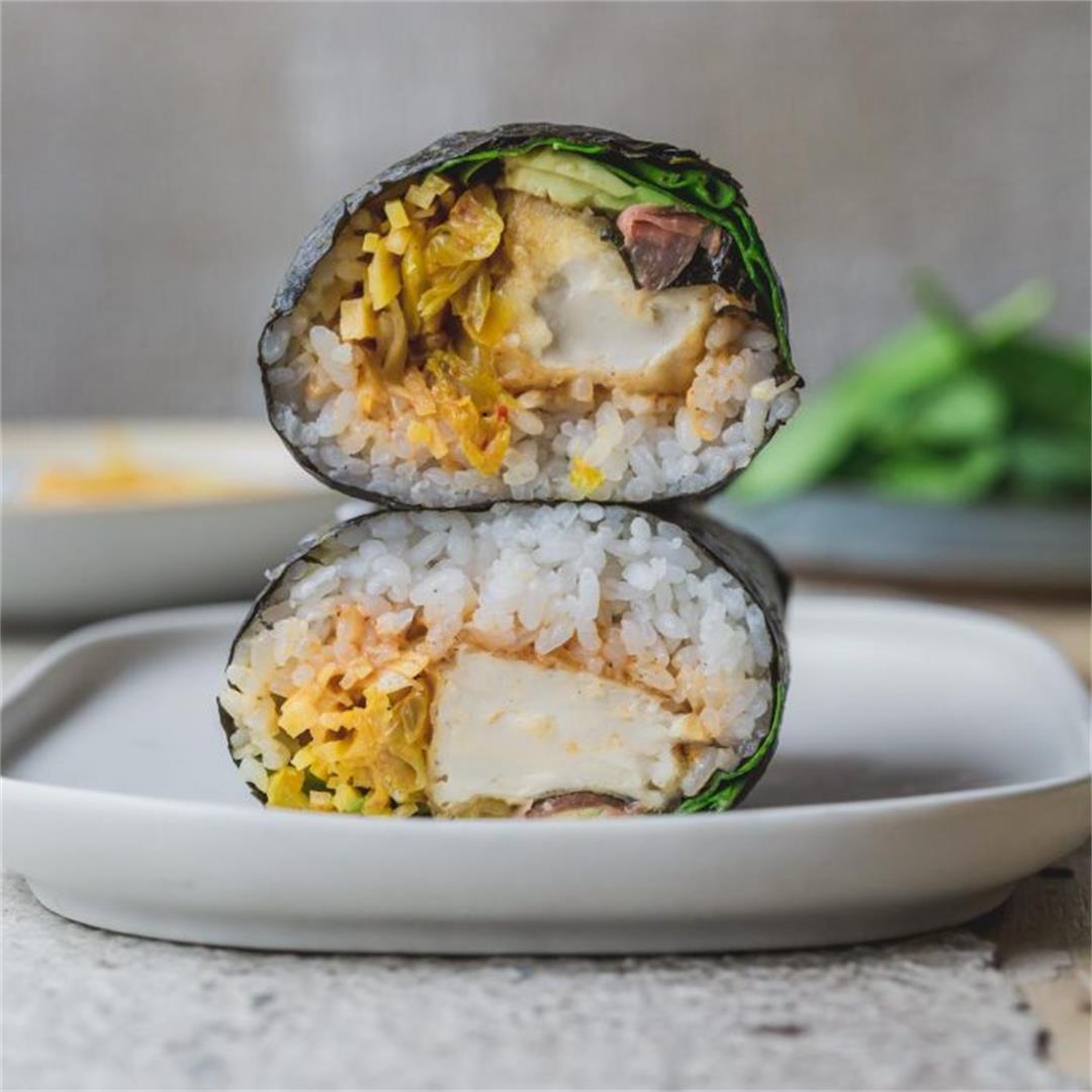 Crispy Tofu Sushi Burrito
