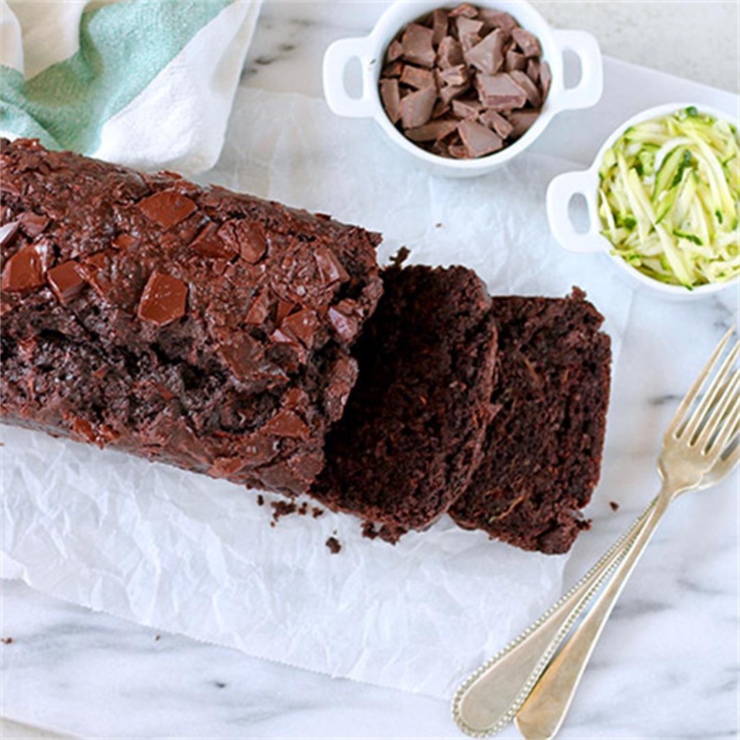 Double Chocolate Zucchini Bread with Quinoa