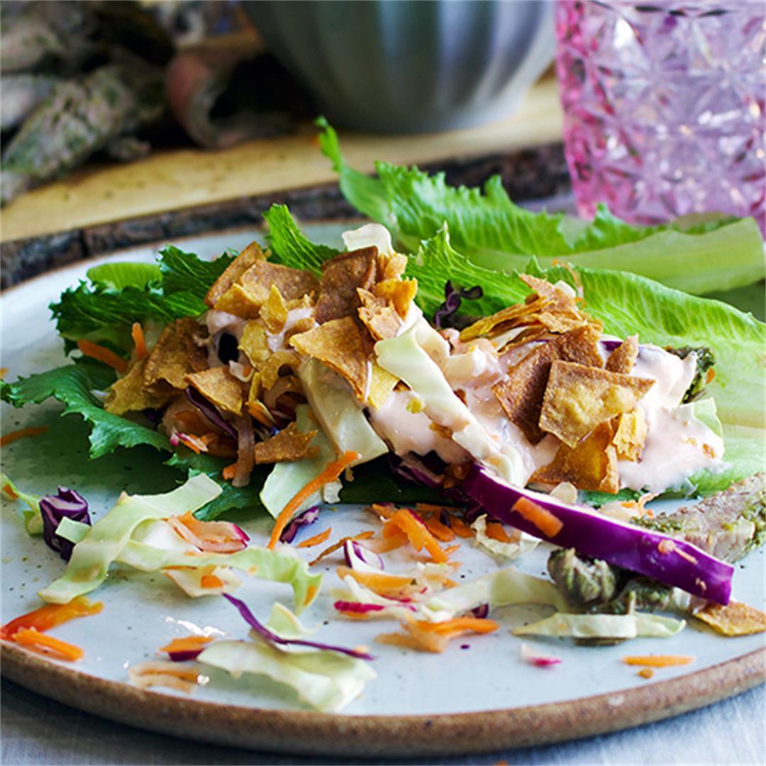 Steak Salad Wraps