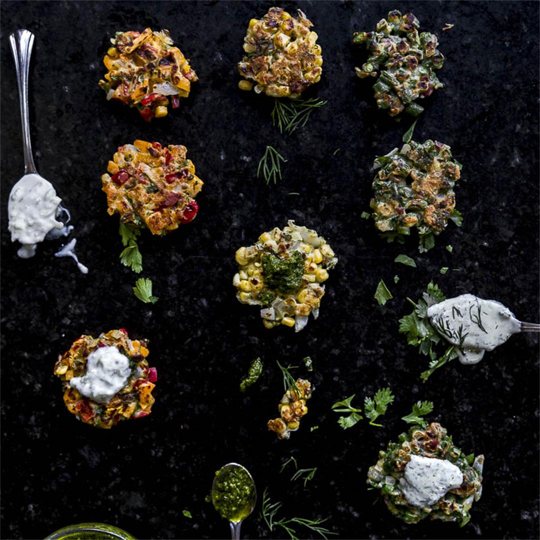 Small batch summer vegetable fritters