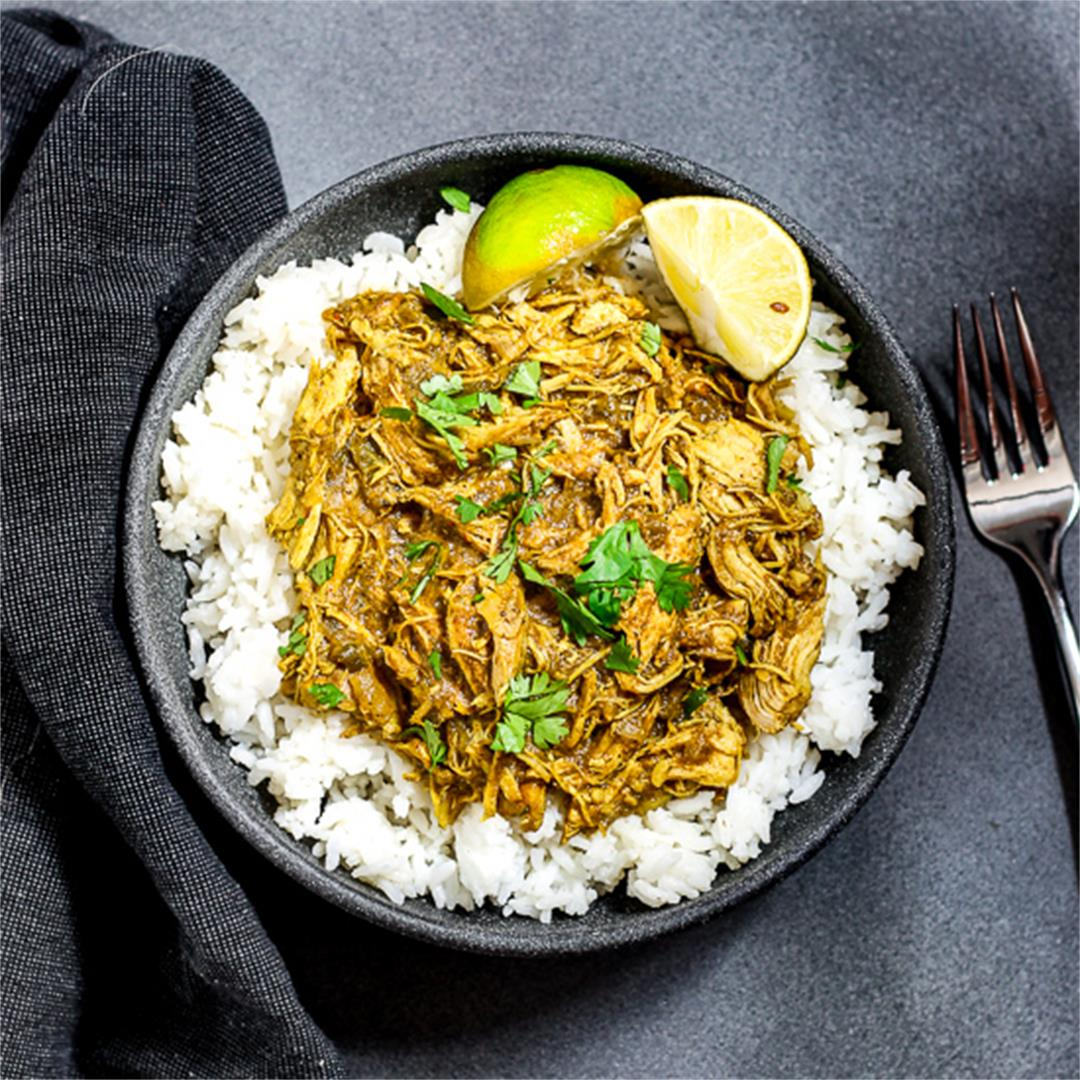 Jamaican Curry Chicken and Coconut Rice (Instant Pot)