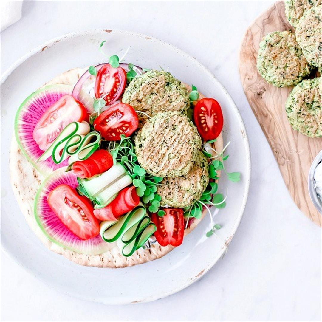Crispy Baked Falafel With Spinach