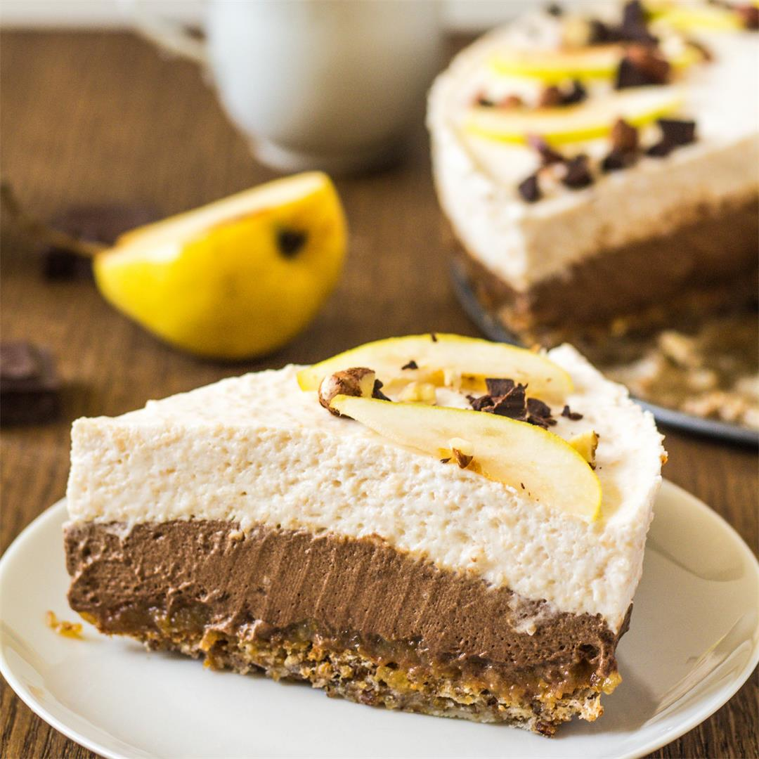 Pear Chocolate Mousse Torte
