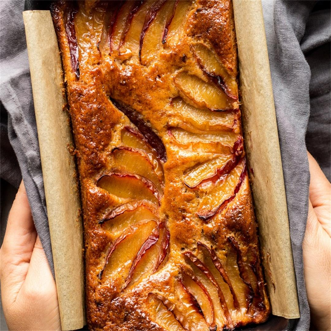 Spiced plum loaf