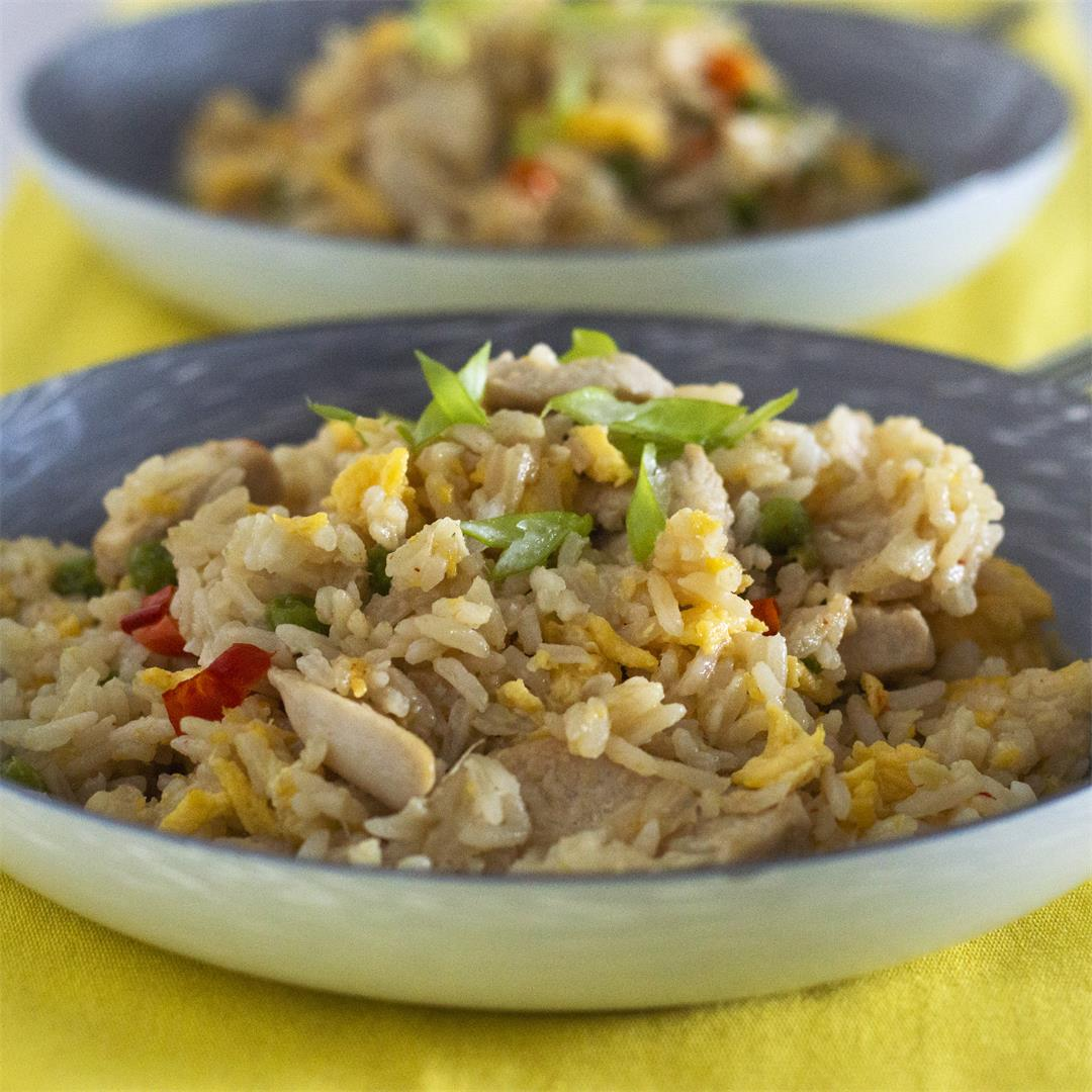 Chicken Egg-Fried Rice
