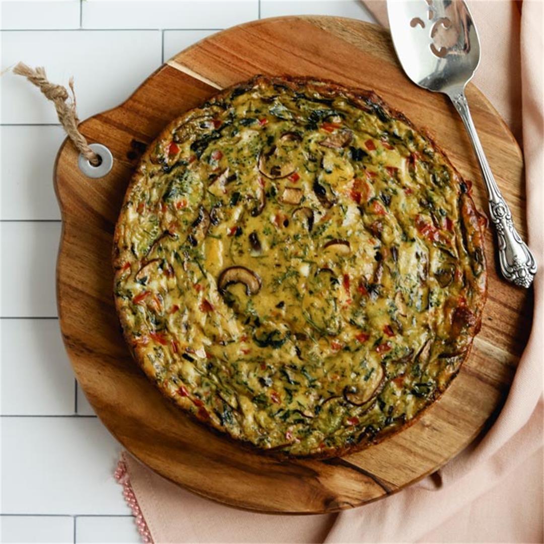 Gluten-Free Garden Party Crustless Quiche