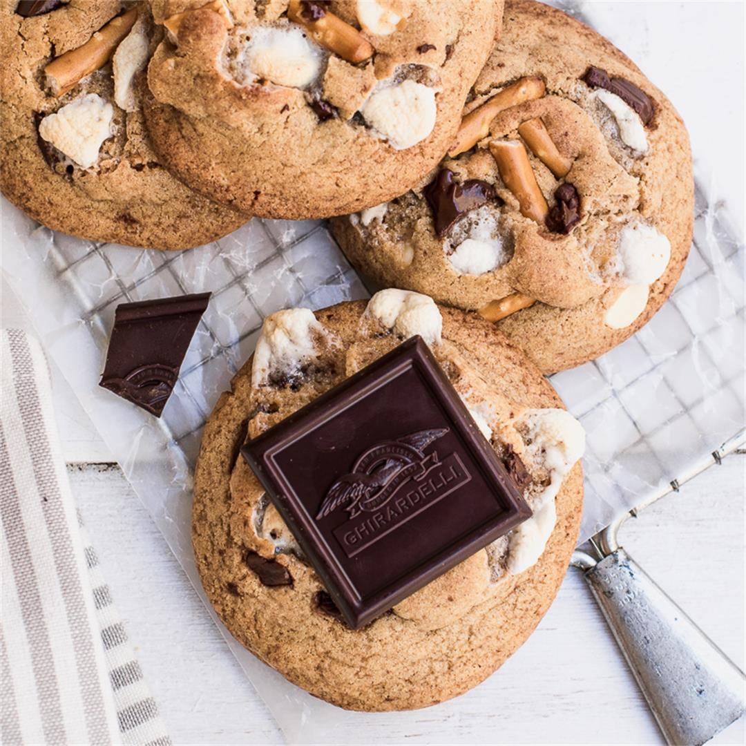 S'mores Peanut Butter Cookies