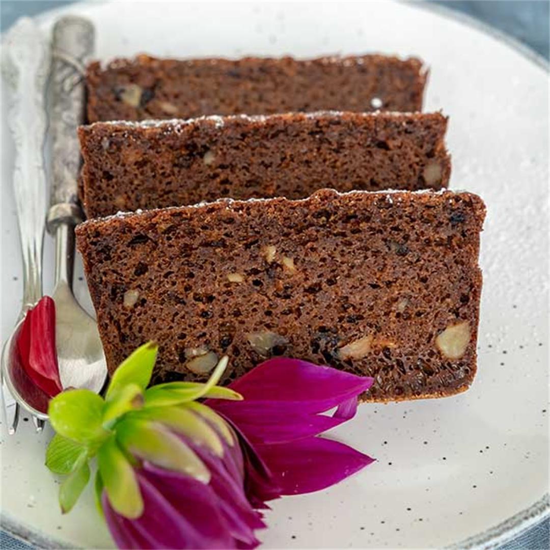 Grain-Free Gingerbread Walnut Loaf (Gluten-Free, Dairy-Free, Pa