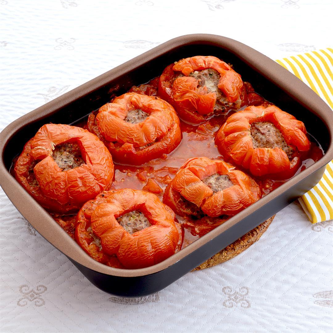 Ground Beef Stuffed Tomatoes