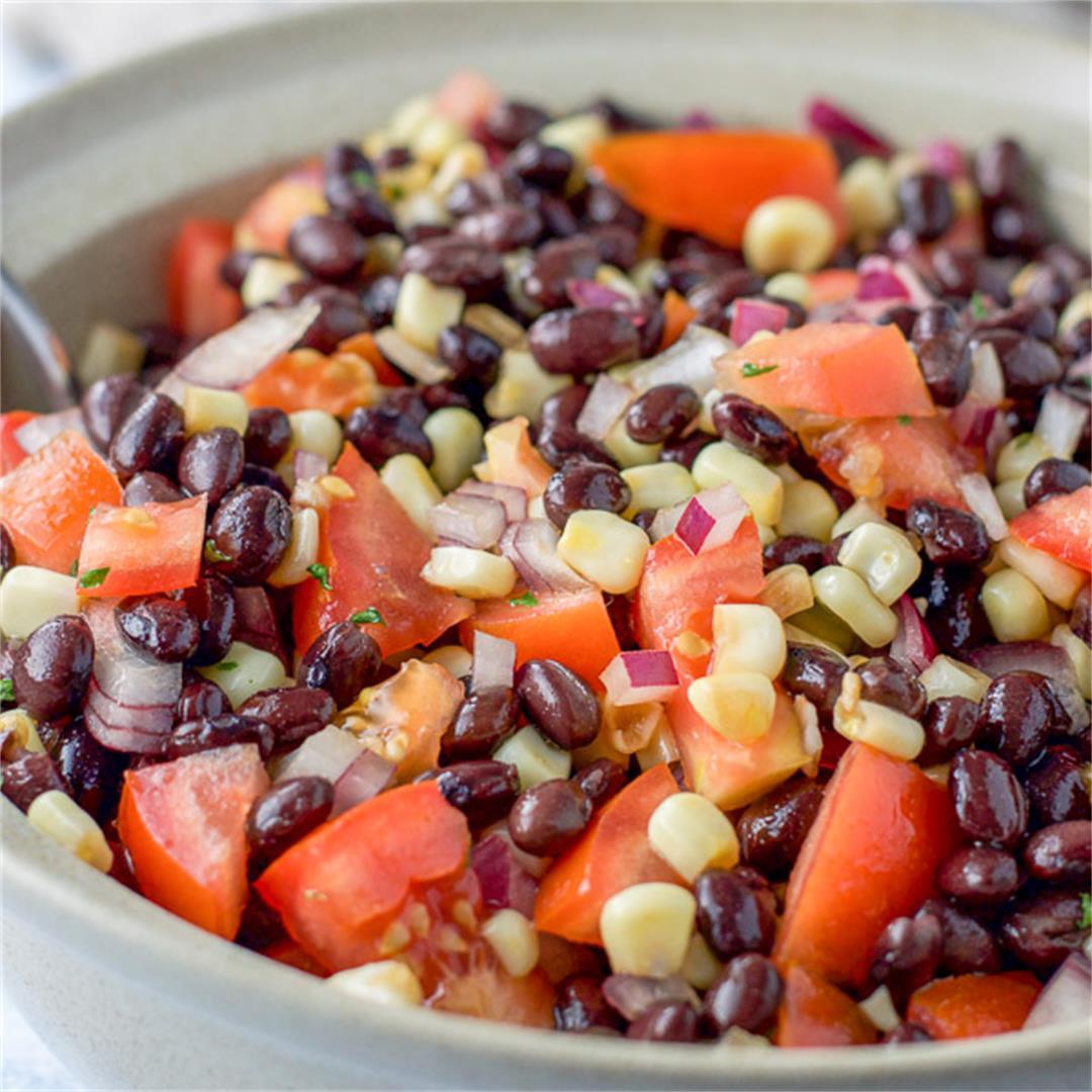 Black Bean Salad with Corn