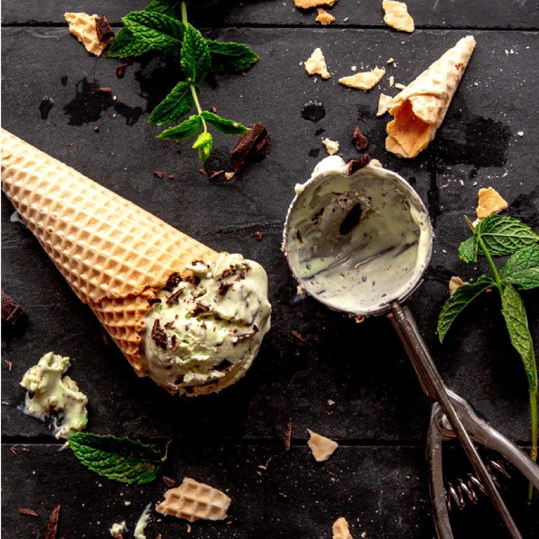 No-churn Mint Choc Ice Cream