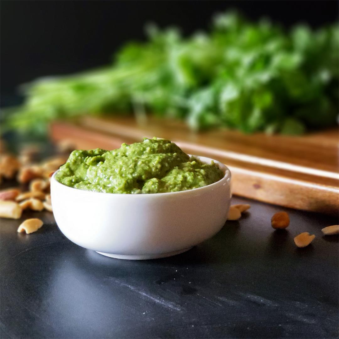 Cilantro Pesto with Peanuts & Lime