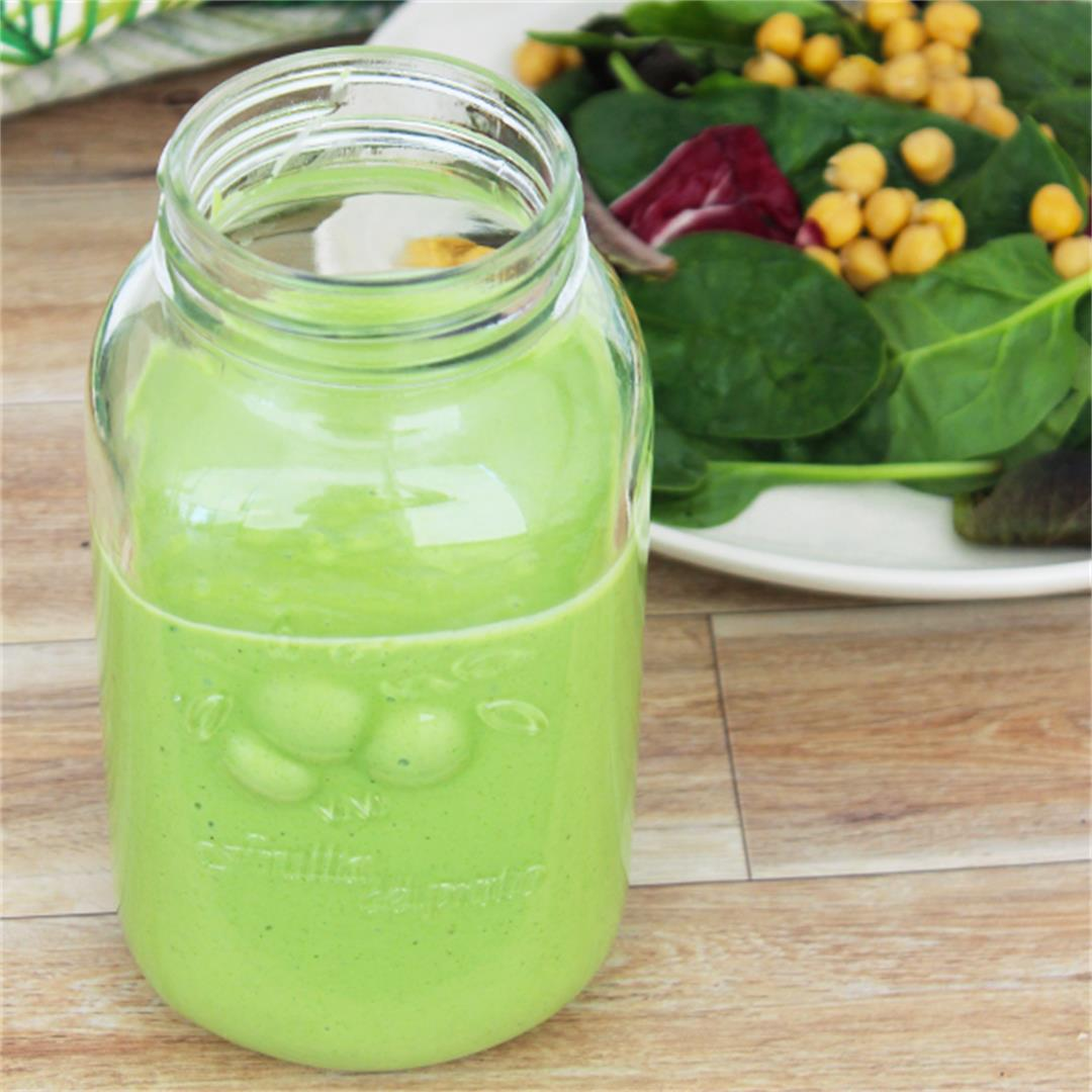 Green Salad Dressing - an easy 5 minute recipe