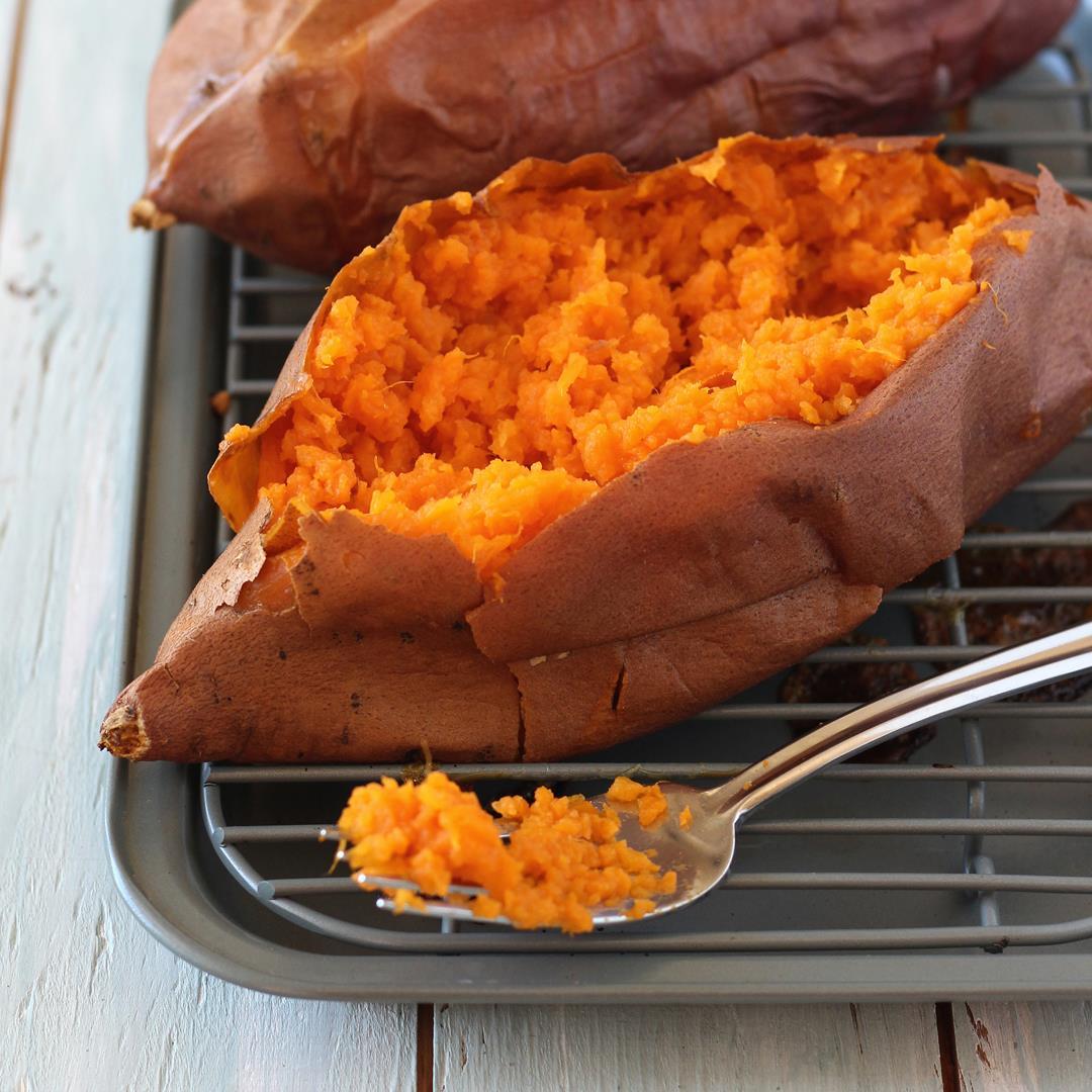 Toaster Oven Baked Sweet Potatoes