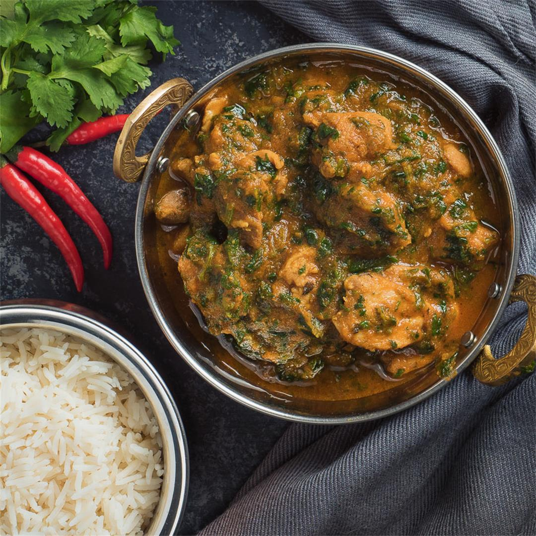 Indian Chicken Saag Curry