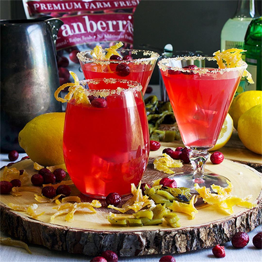 Cranberry Green Chili Lemonade (with or without lemon vodka)