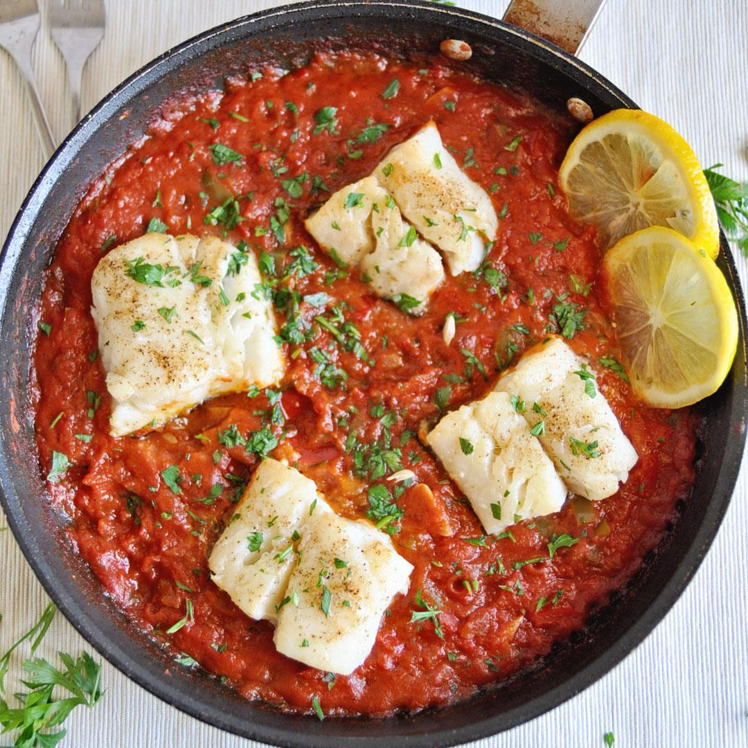 The Ultimate Spanish Cod with Tomato Sauce
