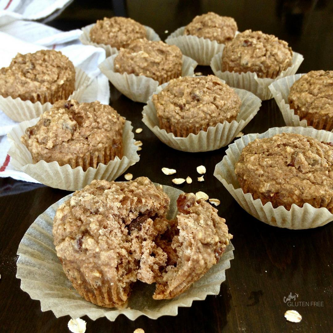 Gluten Free Applesauce Muffins with Raisins