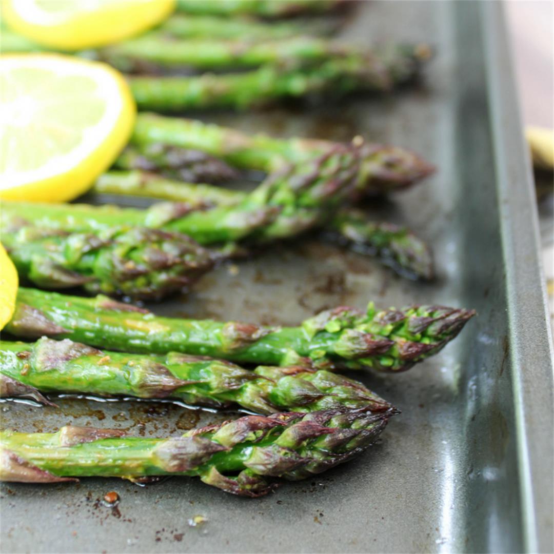 Roasted Lemon Asparagus