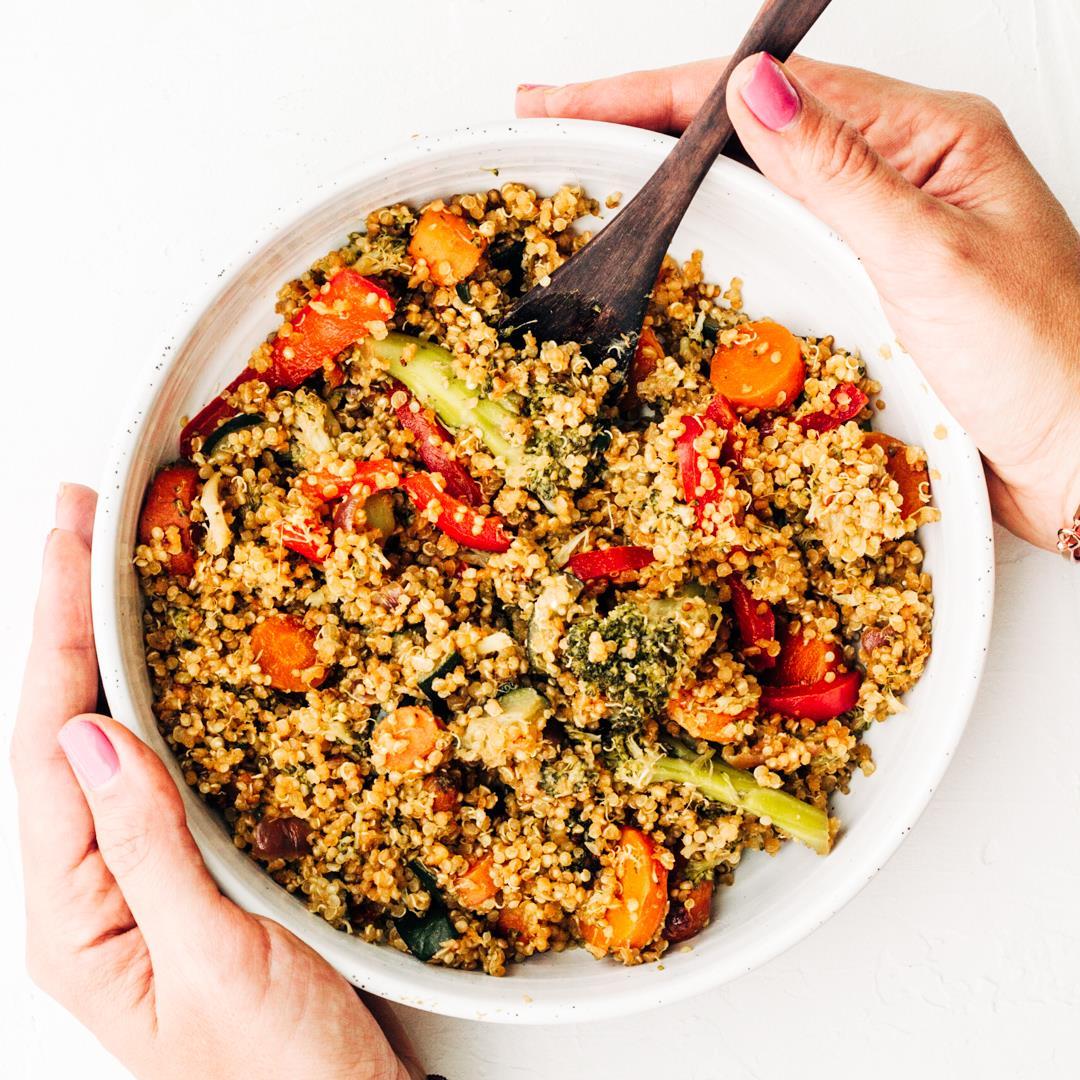 Healthy Vegan Quinoa (not) Fried Rice