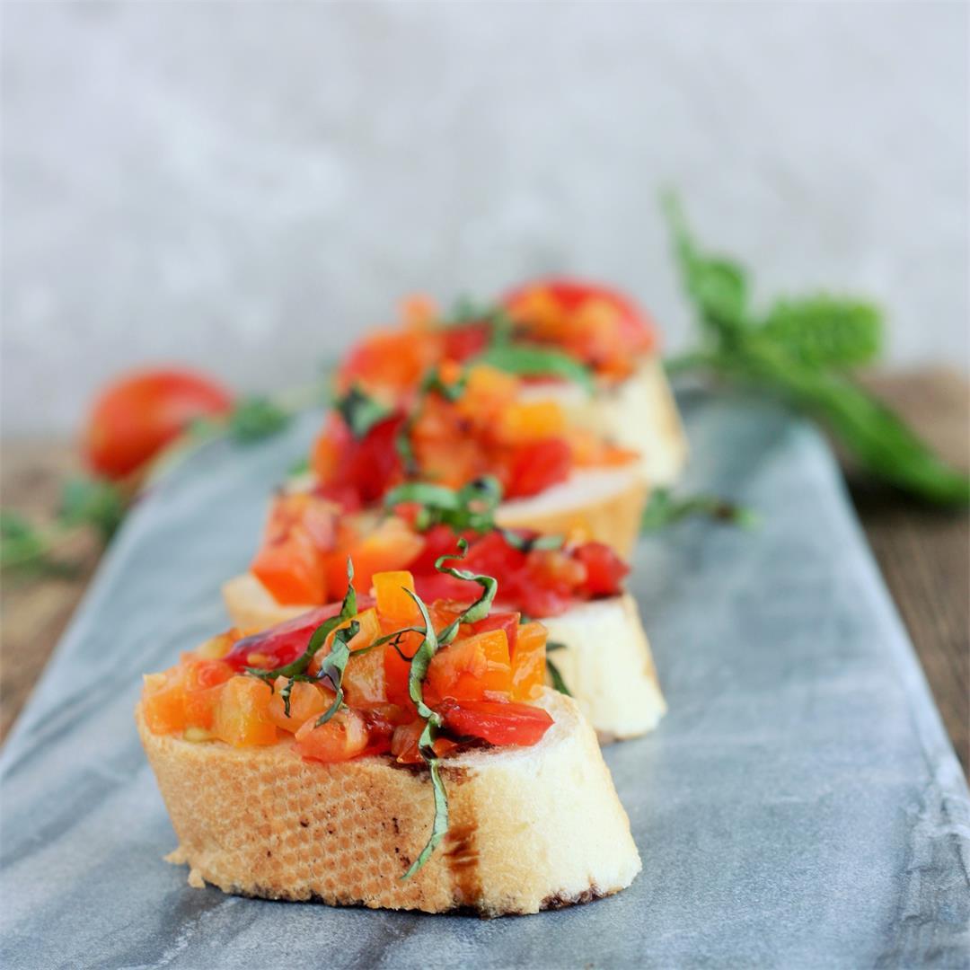 Garden Fresh Tomato Bruschetta