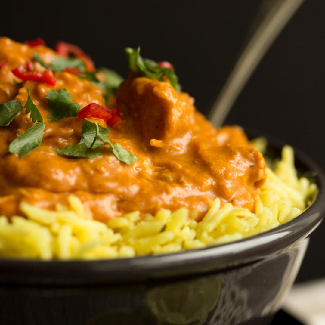 CRAZY Easy Slow Cooker Chicken Curry