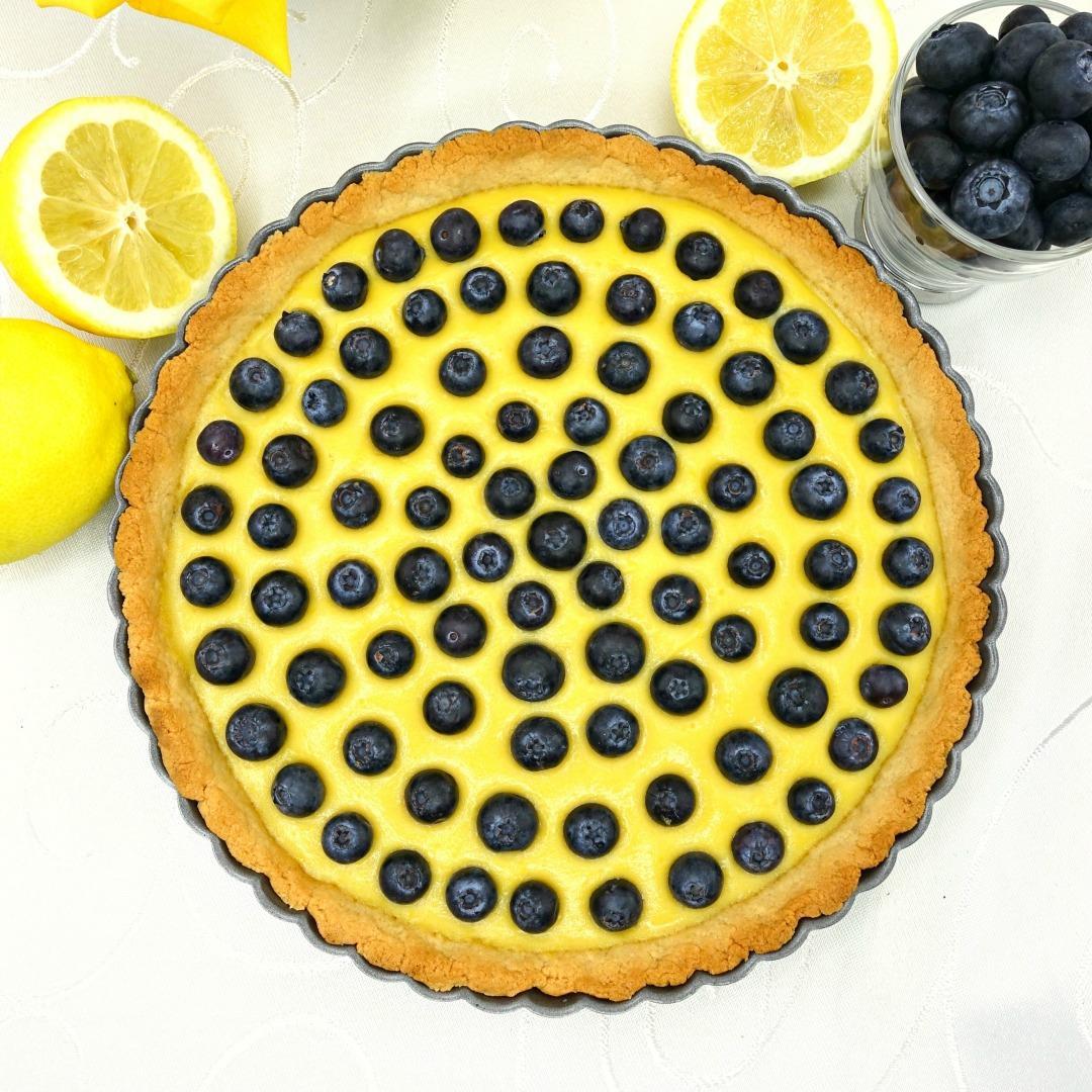 Paleo Lemon Blueberry Tart