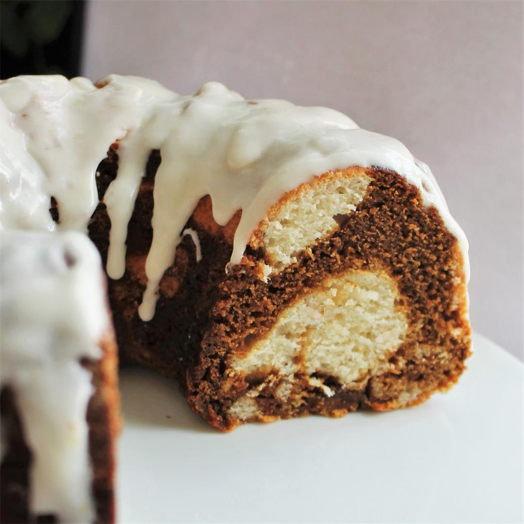 Lemon-Molasses Marble Cake