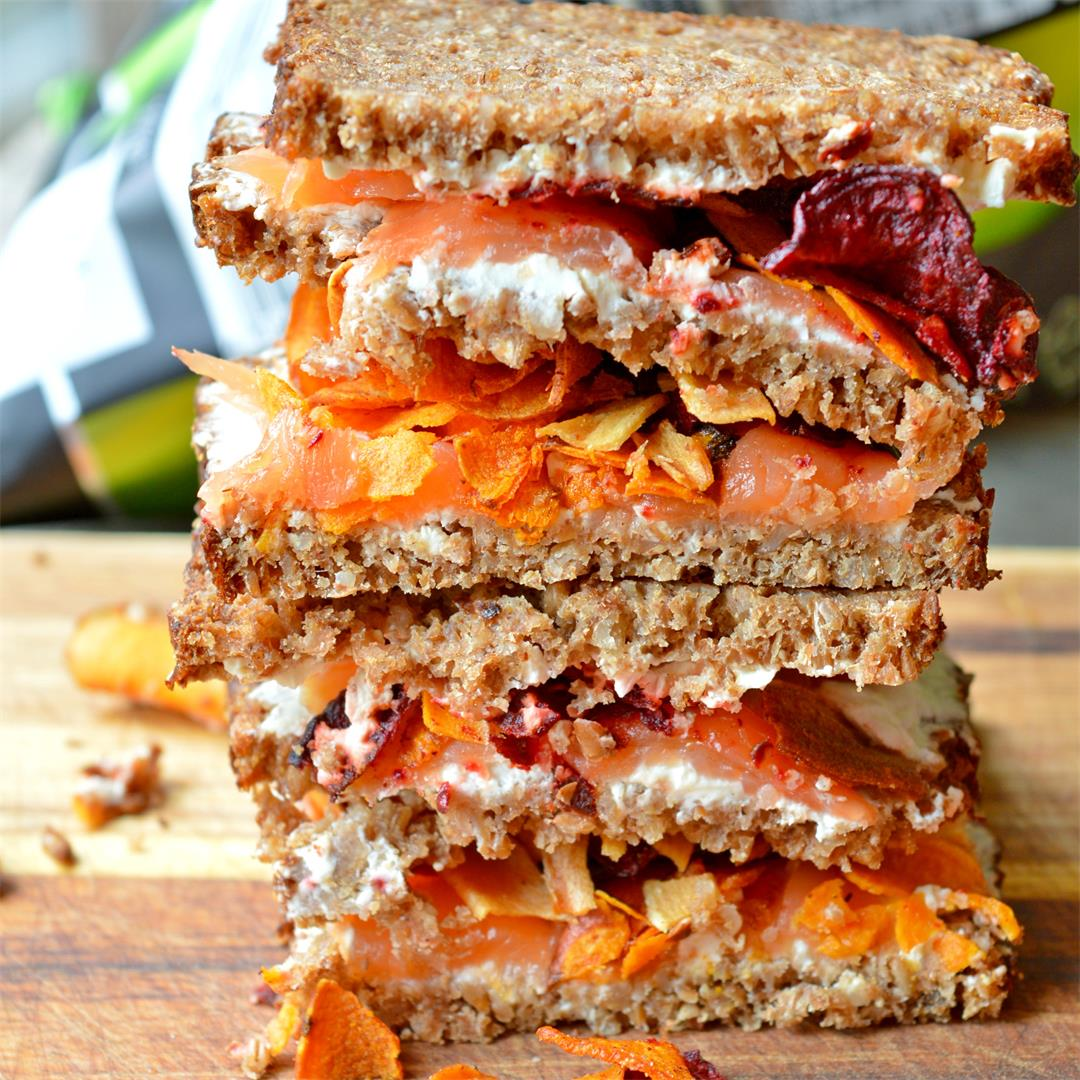 Smoked Salmon & Vegetable Crisps Sandwich