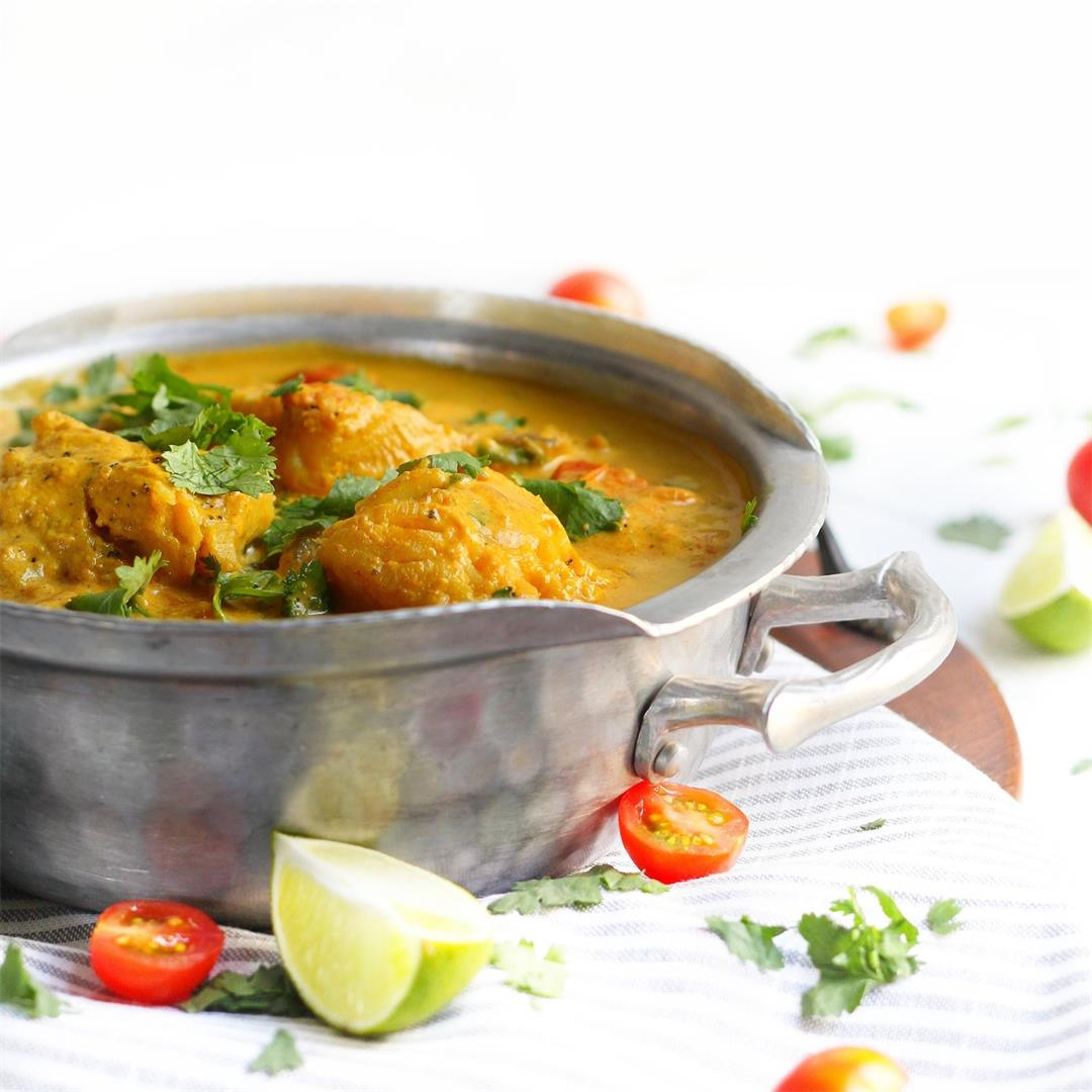 Tomato Coconut Curried Cod