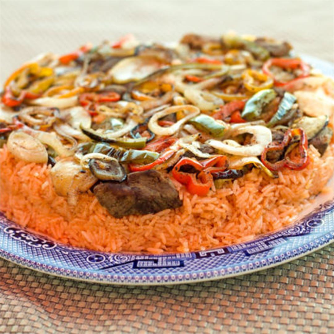 Makloubi/Upside-Down Rice