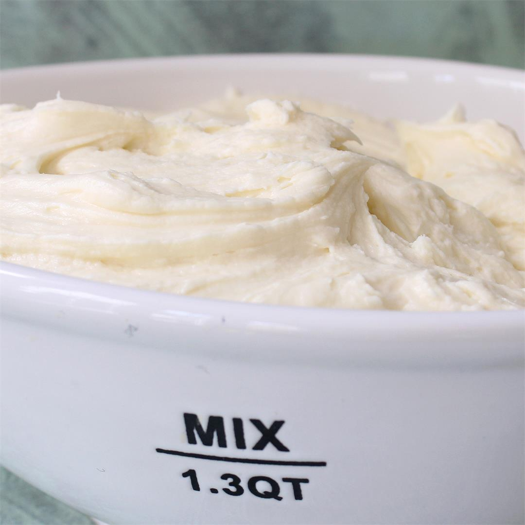 Perfectly Whipped Cream Cheese Frosting