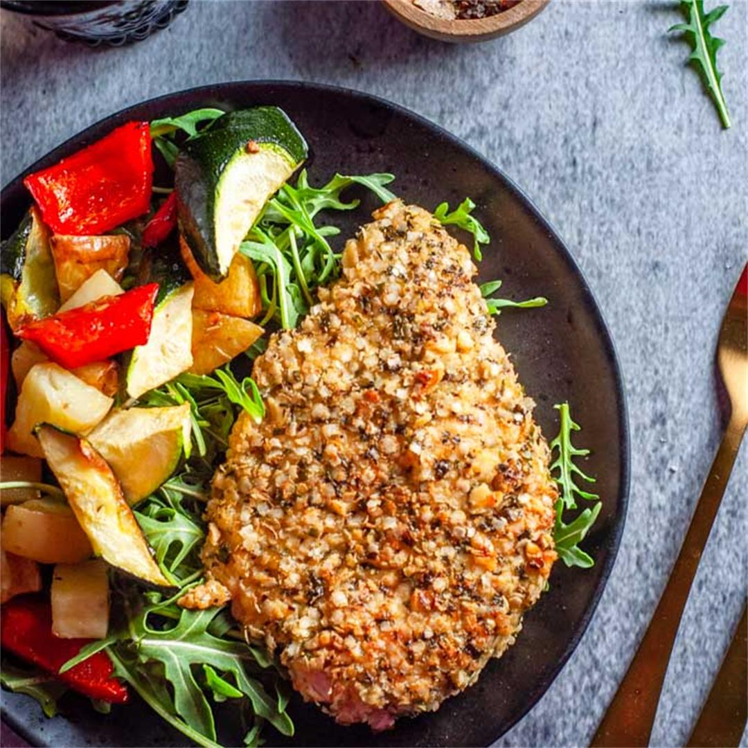Herb and Quinoa Crusted Chicken