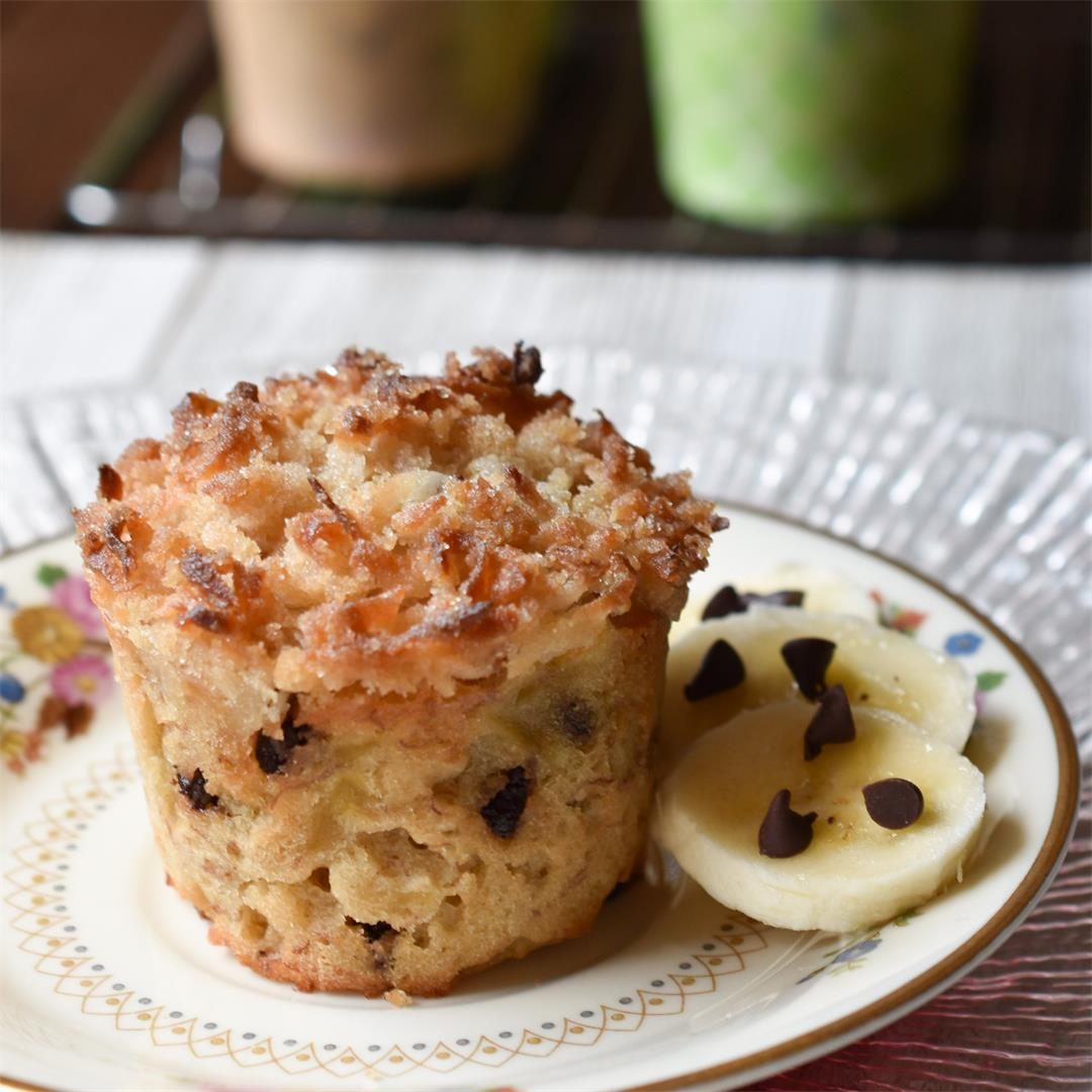 Coconut Crumb Banana Muffins