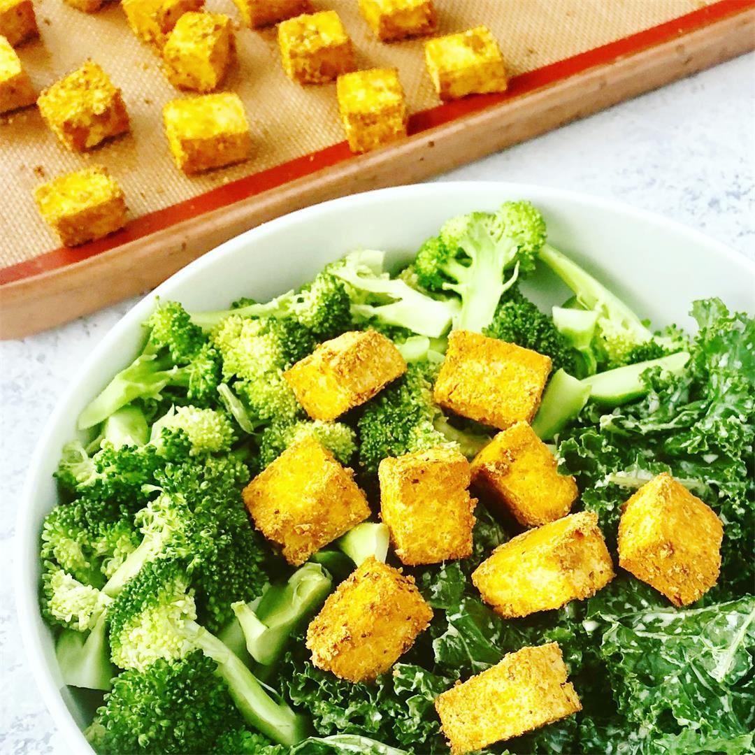 Crispy Turmeric Tofu (gluten free!)