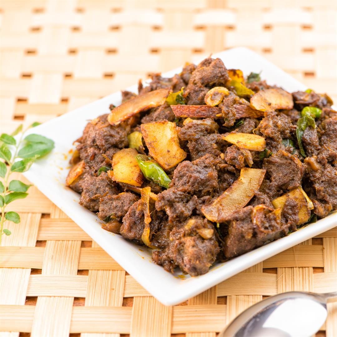 Kerala Beef Roast/ Beef Ularthiyathu/ Beef Masala Roast