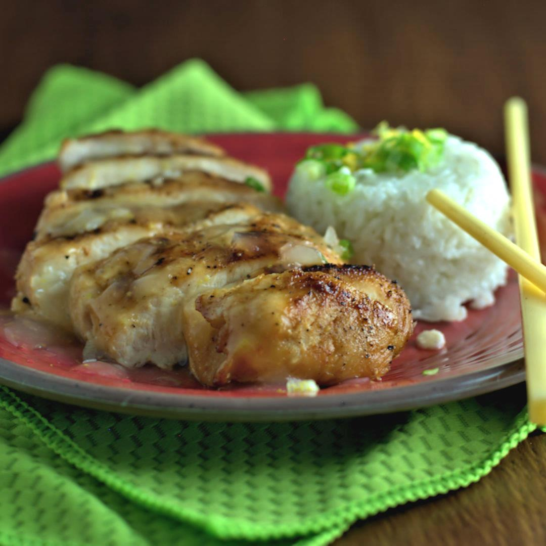 Grilled Chicken with Lemon Sauce