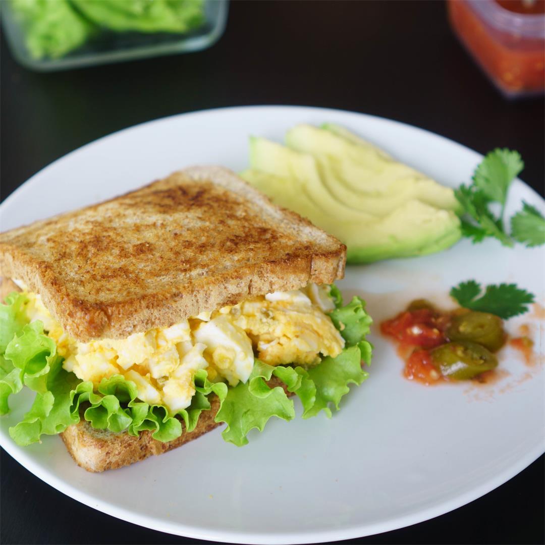 Egg and Jalapeños Salad Sandwich