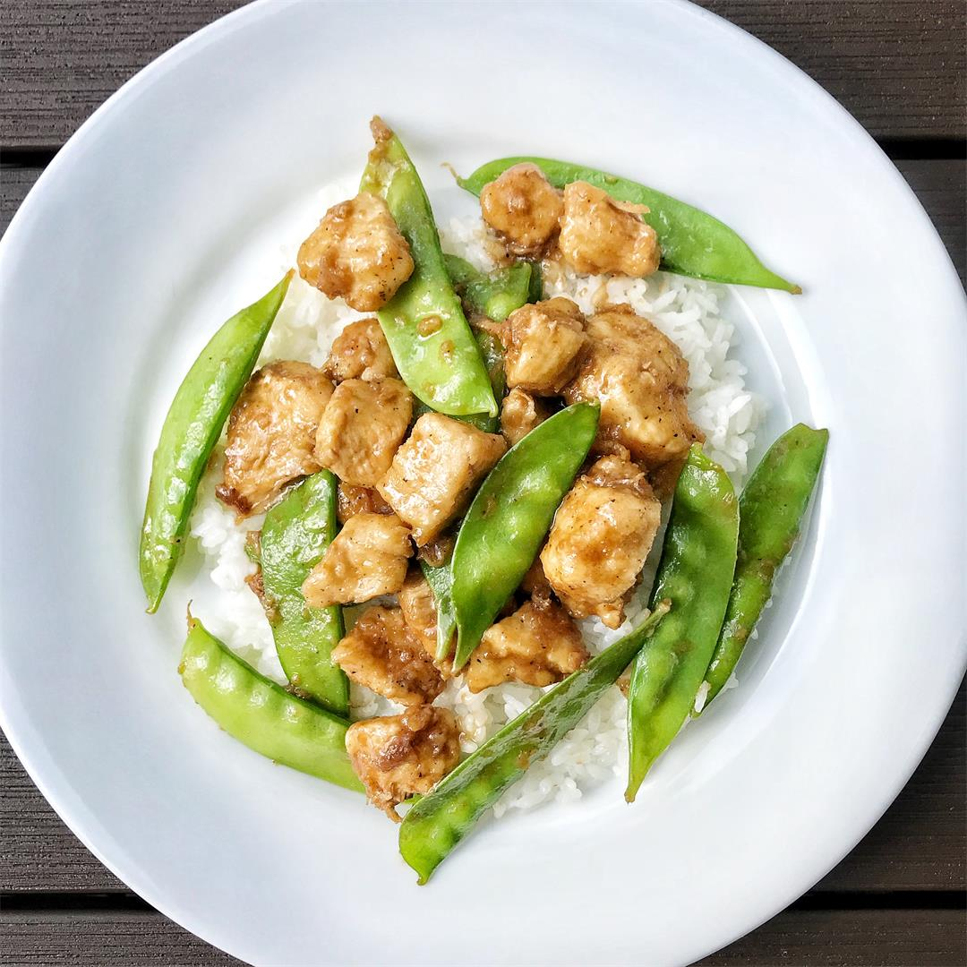 Chicken and Pea Pods Stir Fry
