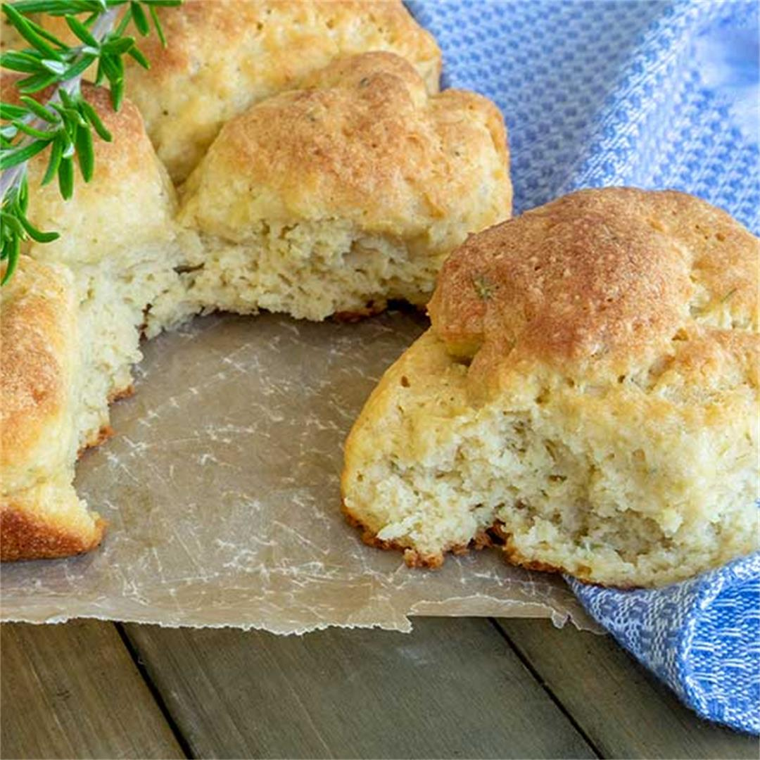 Best Pull Apart Soft Rolls With Rosemary (Gluten-Free, DF)
