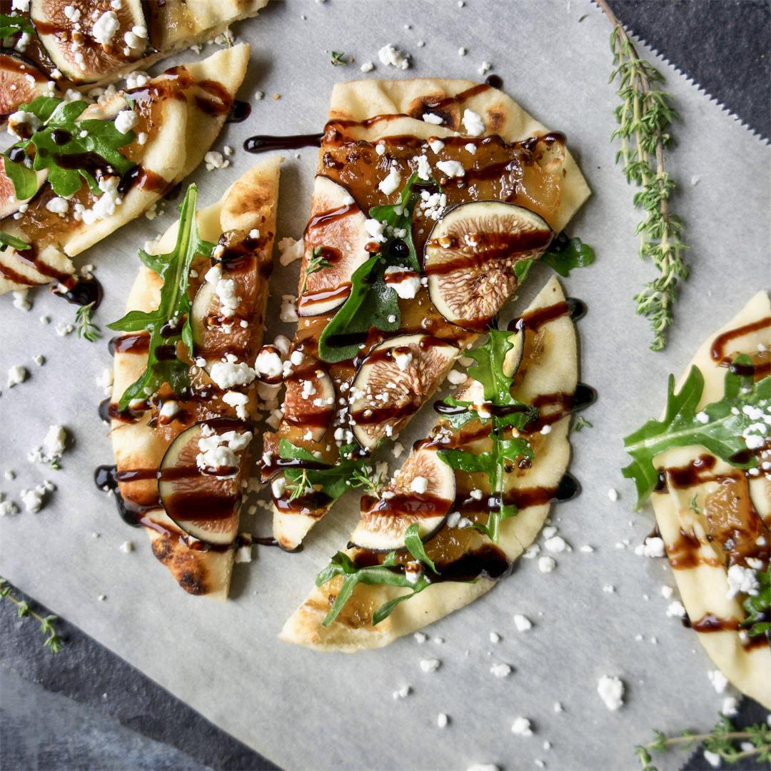 Fig and Goat Cheese Flatbreads