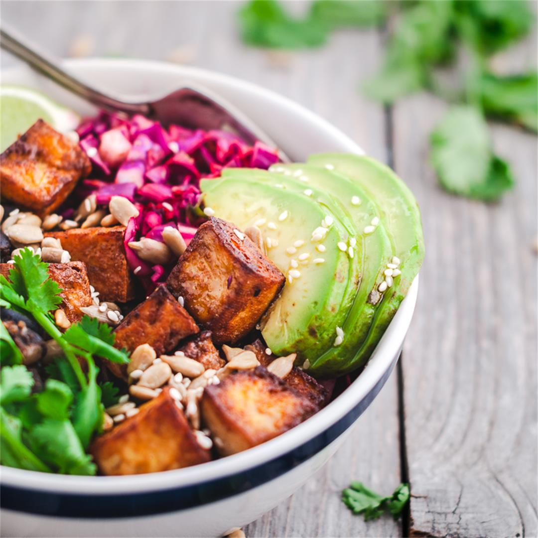 Black Bean Tofu Bowl