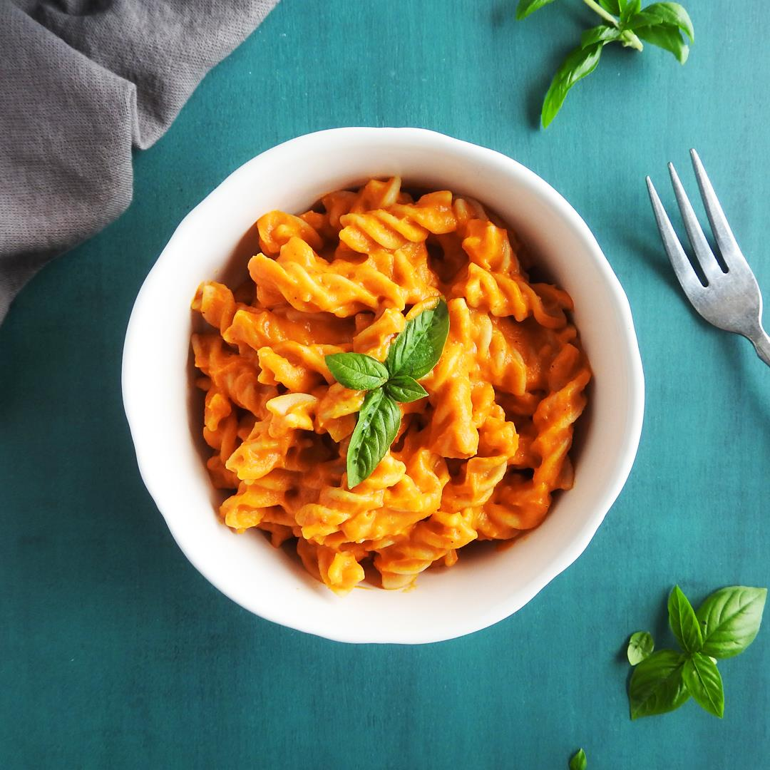 Butternut Squash and Roasted Red Pepper Pasta