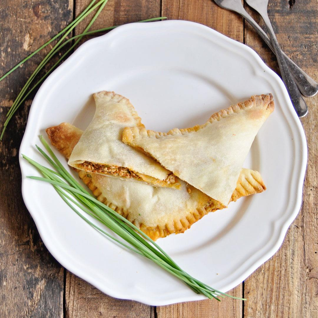 Spanish Empanadas with Roasted Peppers & Goat Cheese